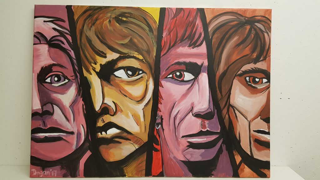 "Acrylpainting ""The Rolling Stones"" by Dragan"