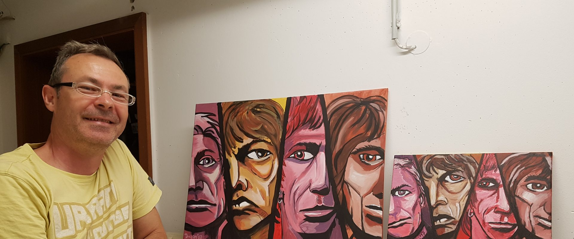Rolling Stones PopArt in Acryl by DragansArt